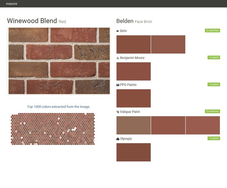 Winewood Blend Red Face Brick Belden Behr Benjamin