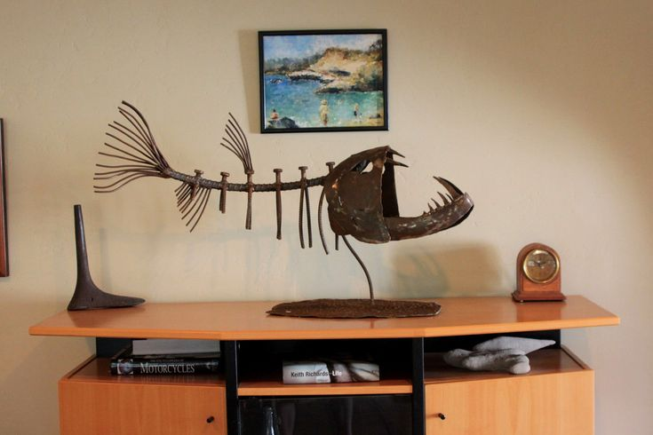 Fish Sculpture / Garden Art  or Table Top. $600.00, by John Dupree on Etsy (shop name: JohnDupree).