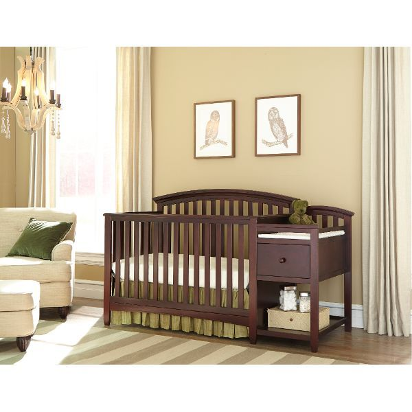Livingston Chocolate Crib with Changing Table