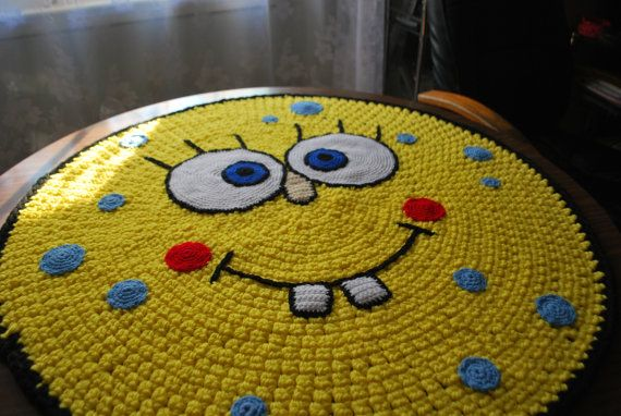 SpongeBob handmade circle. This is timeless, like Big Bird...well sort of. lol