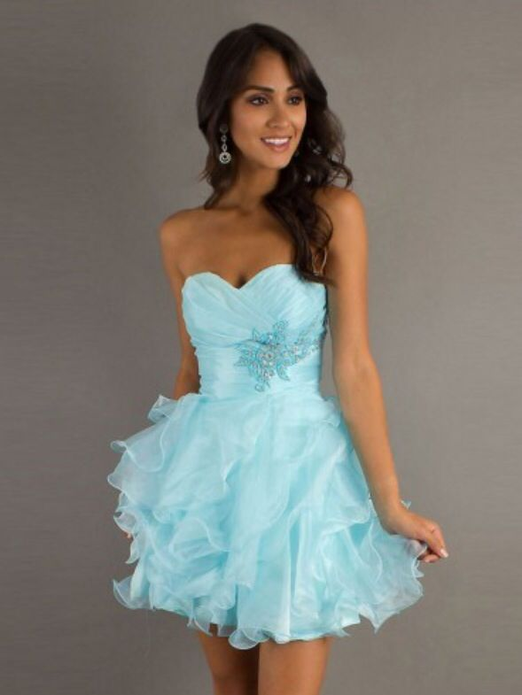 Free shipping A-line Sweetheart Organza  Cocktail Dresses/Short Prom Dress With Ruffles