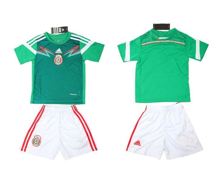 Messico Maglie Calcio Mondiali 2014 Bambini Set Casa