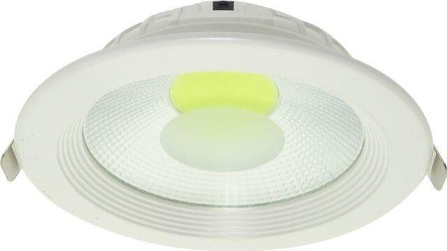 SPOT COB LED 15W DOWNLIGHT ROTUND ALB RECE ofera o putere mare de iluminare cu ajutorul reflectorului oglindat care se afla in interior iar rama alba ii da un plus de eleganta. Disponibil in doua variante de temperaturi de culoare.