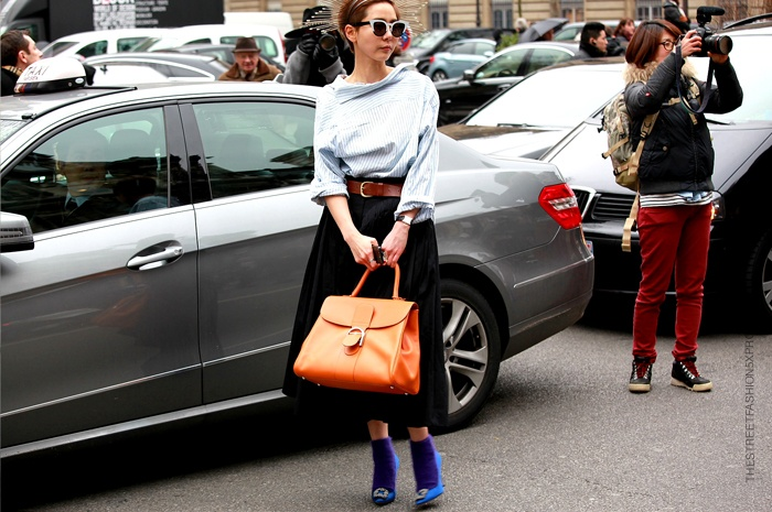 Thestreetfashion5xpro: In the Street...Na Young Kim...Shirt opposite way, Paris