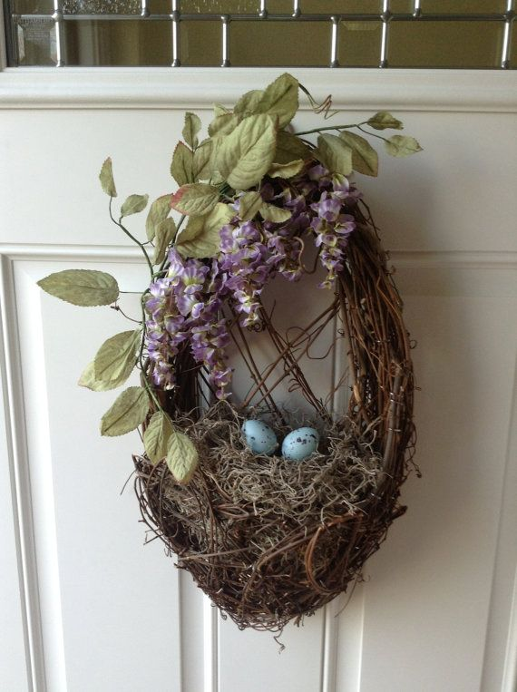 Birds nest and Wisteria Spring and Summer Wreath | Bird ...