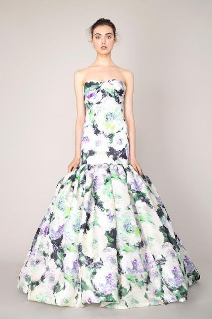 French classical princess style – Marchesa 2014 early spring vacation series of women