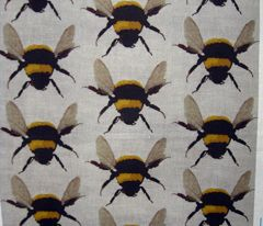dress material! bees on linen by paragonstudios