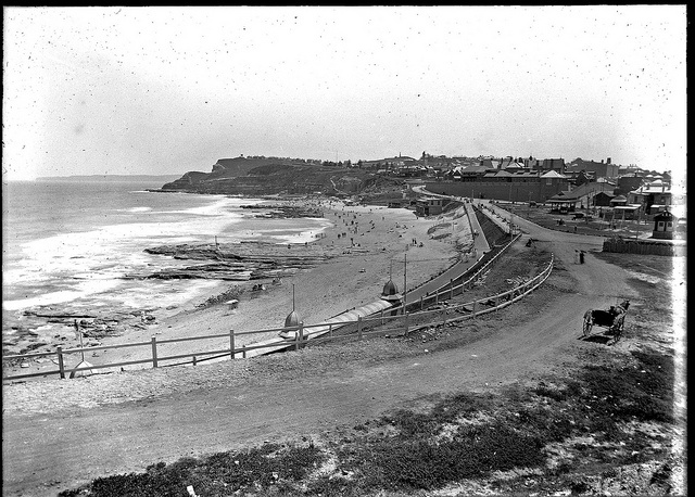 Newcastle Beach, Newcastle, NSW, [8 January 1910] by Cultural Collections, University of Newcastle, via Flickr