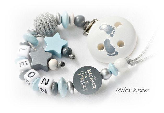 Schnullerketten - Schnullerkette - ein Designerstück von MilasKram-Schnullerketten bei DaWanda