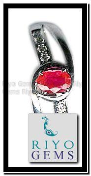 White Gold Ruby Ring Gemstone Jewelry From Riyo Gems http://www.riyogems.com