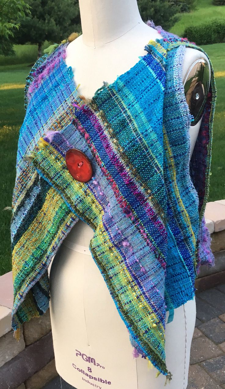 A personal favorite from my Etsy shop https://www.etsy.com/listing/520176140/saori-handwoven-vest
