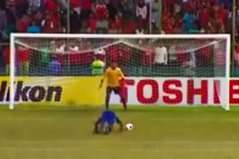 Possibly one of the funniest videos (and luckiest) I have seen of anyone scoring a goal in soccer. The Maldives get this one in to beat Afghanistan haha.