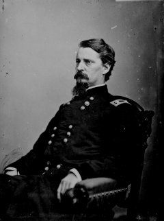 """Winfield Scott Hancock -Served with distinction in the Army for four decades, including service in the Mexican-American War and as a Union general in the American Civil War. Known to his Army colleagues as """"Hancock the Superb"""",[1] he was noted in particular for his personal leadership at the Battle of Gettysburg in 1863."""