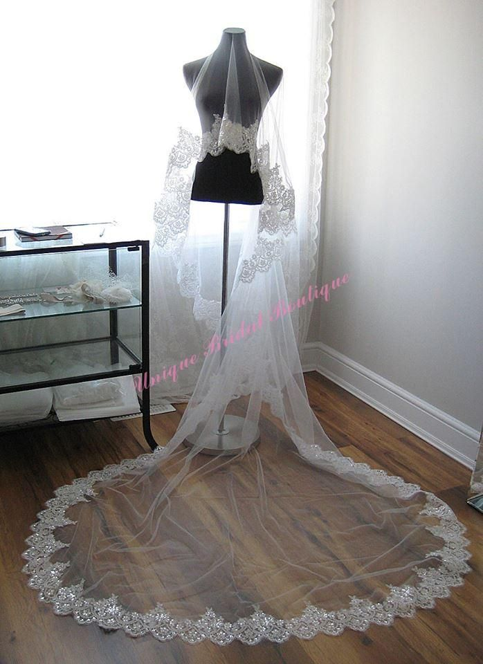 Ivory Bridal Veil Quality Long Directly From China Wedding Suppliers New Veils Lace Edge