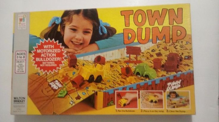 Vintage Rare MB Town Dump Board Game milton bradley | Toys & Hobbies, Games, Board & Traditional Games | eBay!