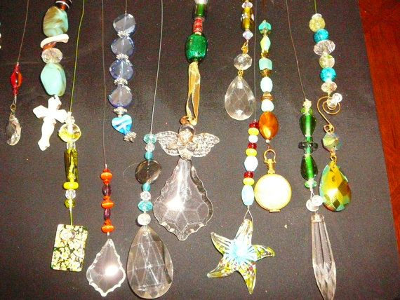 Crystal sun catchers, Key chains, Fan pulls, Car mirror decorations