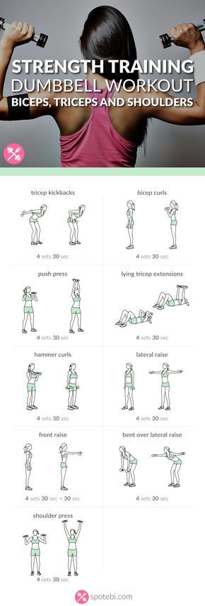 Get rid of arm fat and tone sleek muscles with the help of these dumbbell exercises. Sculpt, tone and firm your biceps, triceps and shoulders in no time! http://www.spotebi.com/workout-routines/upper-body-dumbbell-exercises-biceps-triceps-shoulders-workou