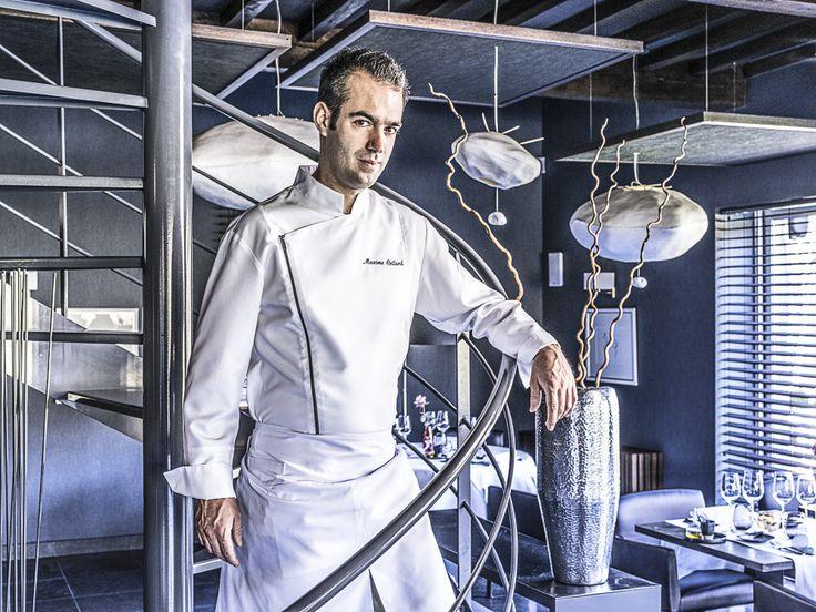 Galaxy è una giacca uomo da cucina, caratterizzata da collo alla coreana...personalizzala!!!