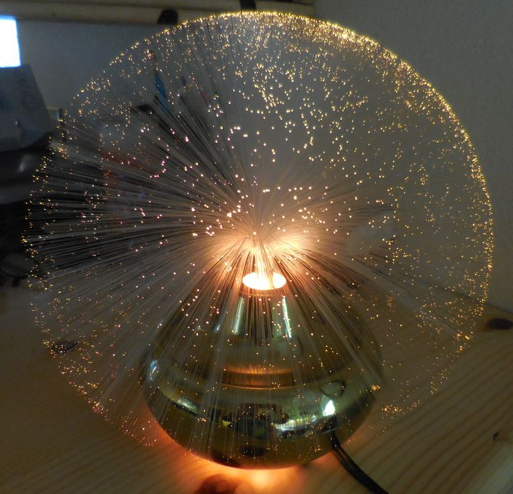 Fantasia Fiber Optic Lamp Mid Century Retro Lamps