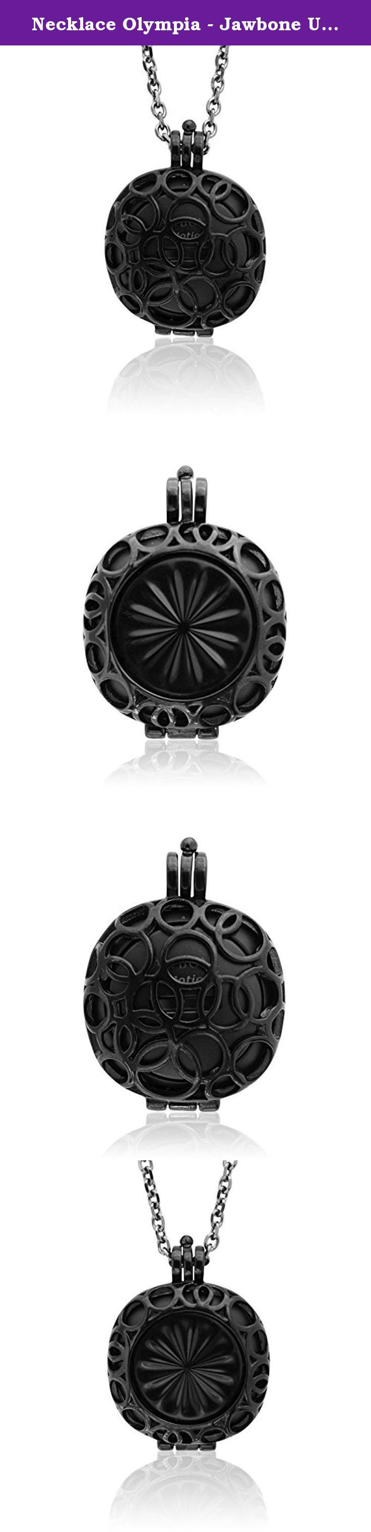 Necklace Olympia - Jawbone Up Move Jewelry - Black. Transform your fitness tracker into a stylish accessory! No worries, the BLACK rhodium plating will last. Here's the best: The design of the pendant allows you to see the tracker's mode indicator lights! No need to remove it to check on your progress. Highlights: - Handmade item from stainless steel - Plated in Black rhodium - The pendant holds the Jawbone UP MOVETM perfectly - No rubber wristband, so your outfit will not be ruined! - No...