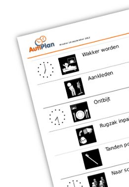 www.autiplan.nl - Veel mensen hebben meer structuur en een duidelijk overzicht nodig in hun dagelijks leven. Met AutiPlan kun je eenvoudig een dagplanning creëren door gebruik te maken van het ruime assortiment pictogrammen.