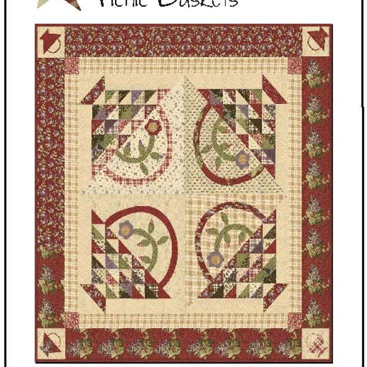 Picnic basket quilt kit : Best images about basket quilts on antique