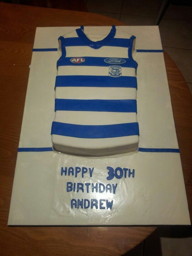 Geelong football jumper cake