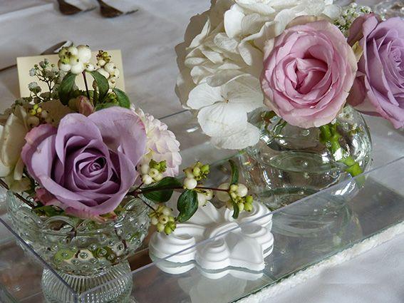 Wedding decoration Vintage Look with roses