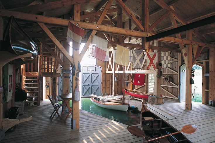 322 best lake houses images on pinterest log cabins for Boat garage on water
