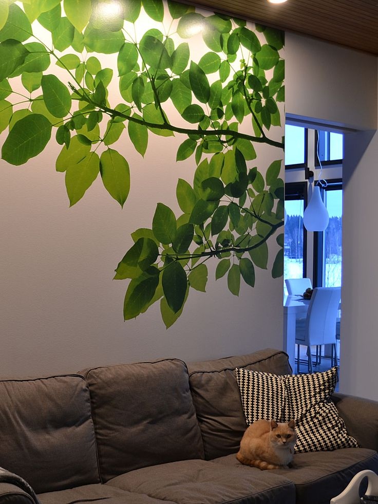 Leaves wall mural - design by decom