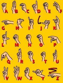 Religous ASL Dictionary ~ Pic is Manual Alphabet