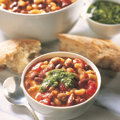 Everyday Easy Quick Meals : Pasta & Bean Soup recipe by Simon Holst