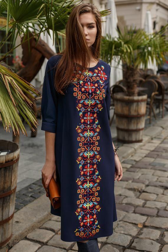 Gift for Women Gift for Wife Ukrainian Dress Ukrainian vyshyvanka dress Boho Ukrainian folk Dress Gift for Her Gift for Christmas