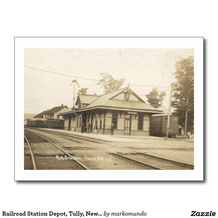 Railroad Station Depot Tully New York Vintage Postcard  new