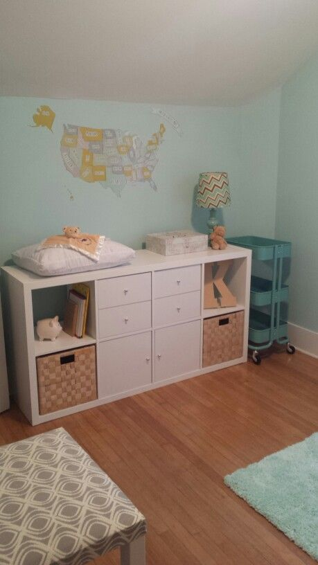 Ikea Kallax Changing Table Kids Room Kids Playroom