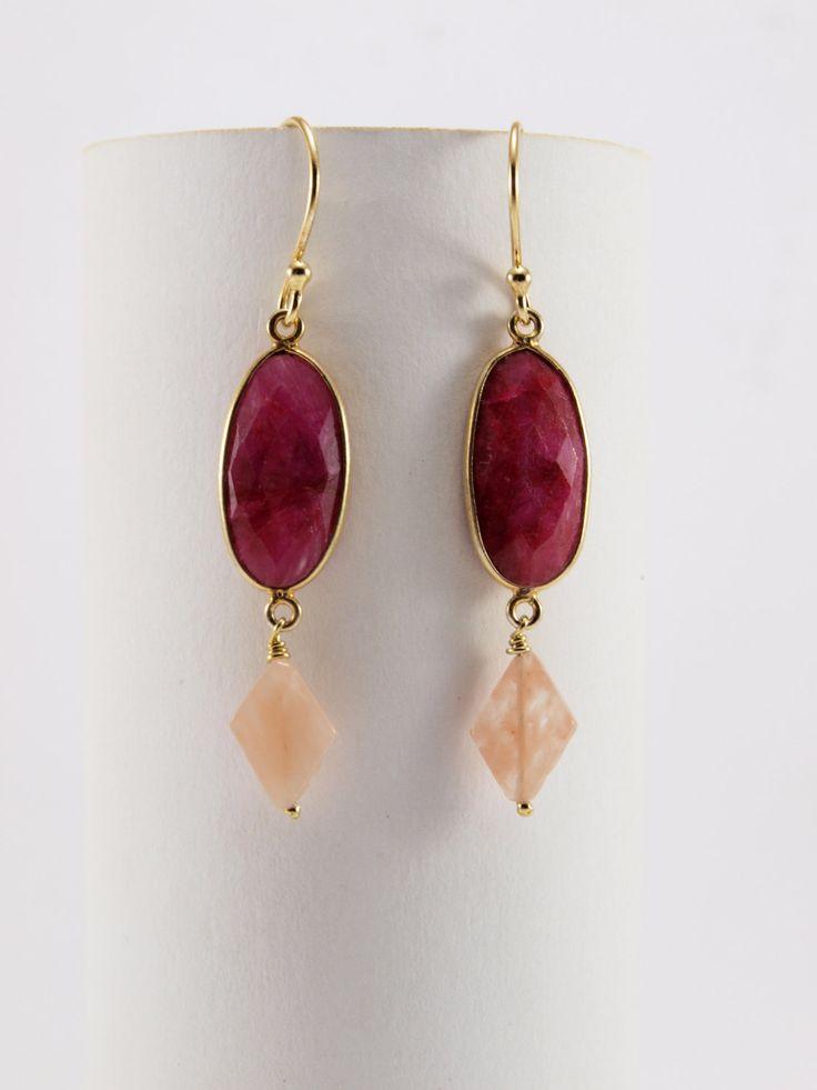 Fuchsia Earrings by HippieChicJewelryAth on Etsy