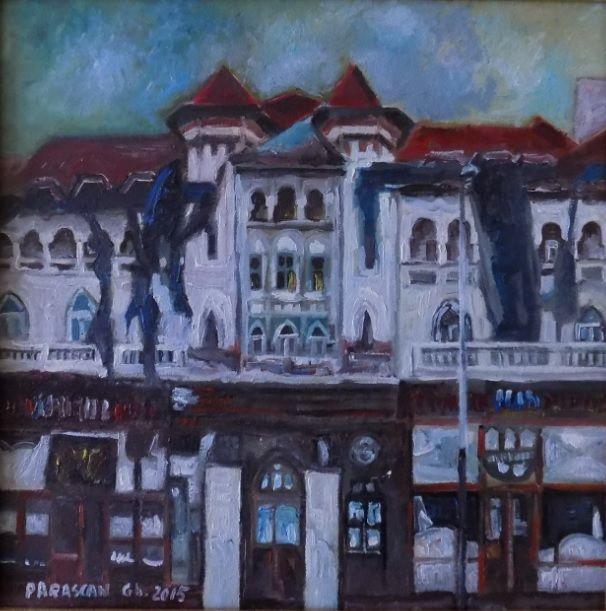 Picturi de Gheorghe Parascan | a) Teatrul Bacovia, pictura ulei | Boutiq Art