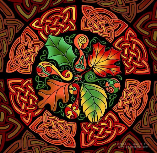 """Celtic Autumn Leaves"" by Kristen Fox                              …                                                                                                                                                                                 More"