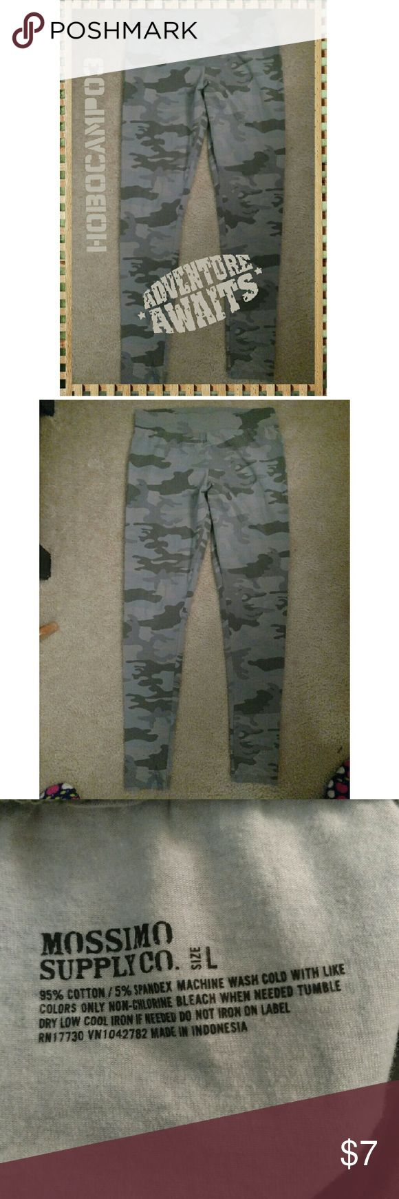 Mossimo Camo Leggings Camo leggings. New without tags. There are not lined. No trades. Mossimo Supply Co Pants Leggings