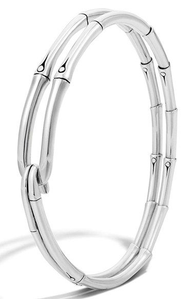 John Hardy 'Bamboo' Silver Hook Bracelet