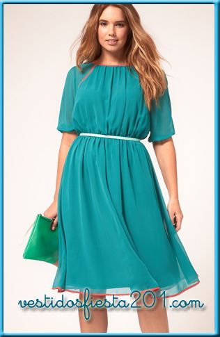 vestidos para gorditas casuales juveniles modernos a la moda primavera verano