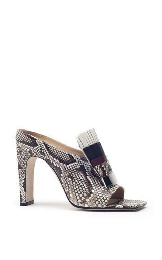 Newest Quotests Sergio Rossi Sandals Black Donna Textured leather