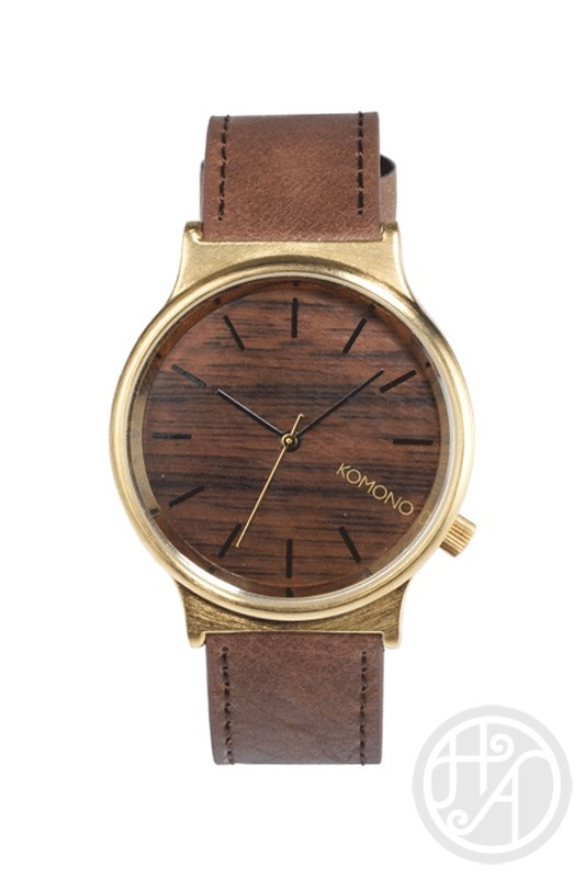 Komono Wizard Gold Wood Watch