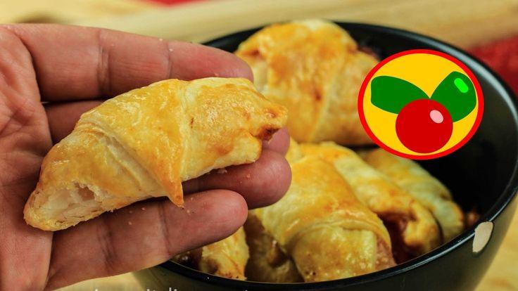 Mini Pizza Croissant - Cruasanes de hojaldre salados y rellenos de Pizza!