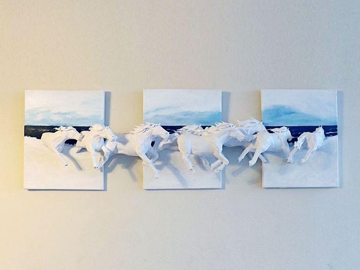 креативные картины, 3д картины фото, 3d картины, трехмерные картины, необычное искусство, применение искусства бумажной пластики оригами