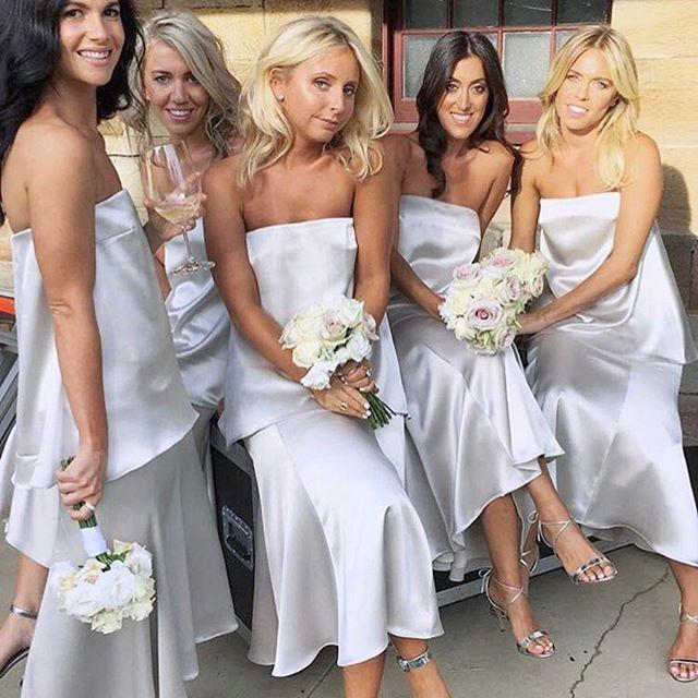 • BRIDE BABES • Some seriously beautiful bridesmaid style • We are loving this silk satin look at the moment • RG @katrinasymonds • #wedding #bride #bridesmaid #oneday #bridebabe  #Regram via @onedaybridal
