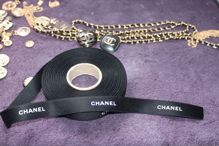 Authentic Real Chanel ribbon 1 yard by BOWtiqueCanada on Etsy