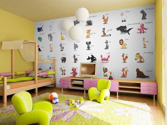 Papier peint pour enfant peut avoir une dimension éducative -  apprendre l'anglais avec plaisir ? Oui c'est possible grâce au papier peint bimago #papierpeint #papierspeints #wallpapers #enfants #chambreenfant #kids #english #learning #apprentissage