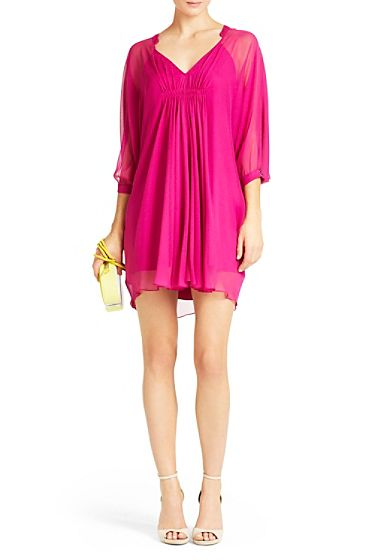 DVF | Breezy and simple, the Fluerette in peony is a must-have silhouette for any season.  http://on.dvf.com/1ap4HbS