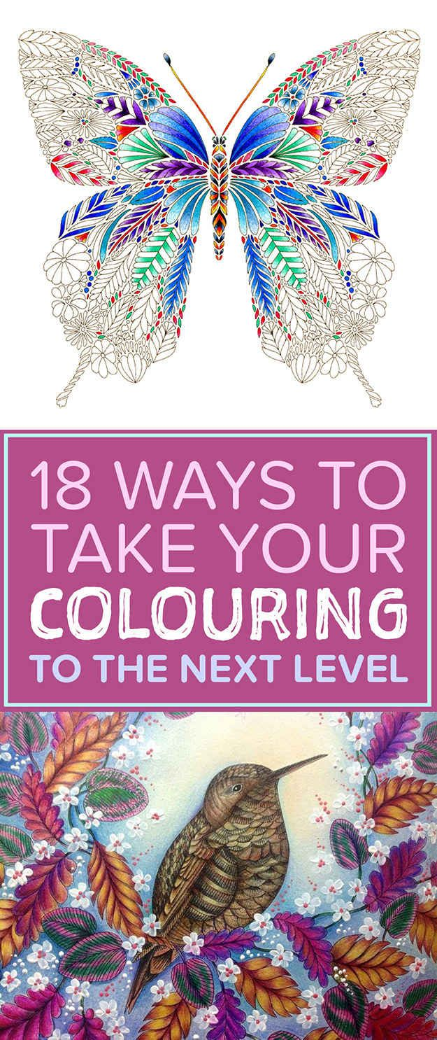 18 Tips To Bring Your Colouring To The Next Level, if you don't have one of her books you should check it out , some seriously beautiful colouring books